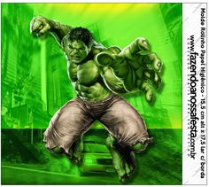 Hulk Free Printable Candy Bar Labels.