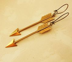 Big Gold Arrow Earrings