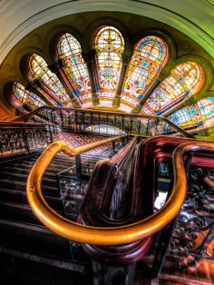 Tatjana Vidakovic: Queen Victoria Building - Paul Emmings Photography www.paulemmingsphotography.com Queen Victoria Building, Sydney. #architecture #stainedglass #staircase