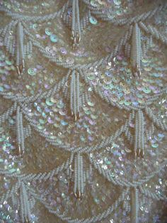 Sequins in shell motive