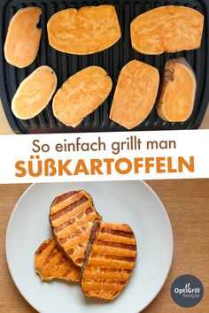 Süßkartoffeln grillen: Leckere Beilage vom Kontaktgrill – OptiGrill Rezepte, Grilling sweet potatoes: delicious side dish from the contact grill – OptiGrill recipes, potato recipes grill Fresh Vegetables, Fruits And Veggies, Grilled Sweet Potatoes, Potatoes Grill, Vegetarian Recipes, Healthy Recipes, High Fiber Foods, Salad With Sweet Potato, Dried Beans