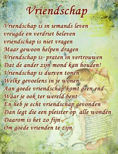Vriendschap Love Me Quotes, Poem Quotes, Best Friend Quotes, Funny Quotes, Life Quotes, Bullet Journal Lettering Ideas, Dutch Quotes, Thing 1, Word Out
