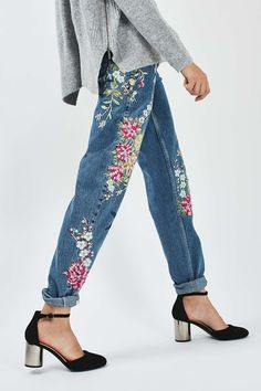 PETITE Garden Embroidered Mom Jean                                                                                                                                                                                 More