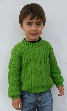 Sirdar Knitting Patterns, Baby Cardigan Knitting Pattern, Baby Boy Knitting, Knitting For Kids, Knitting For Beginners, Knitting Stitches, Knit Baby Sweaters, Boys Sweaters, Diy Knitting Projects