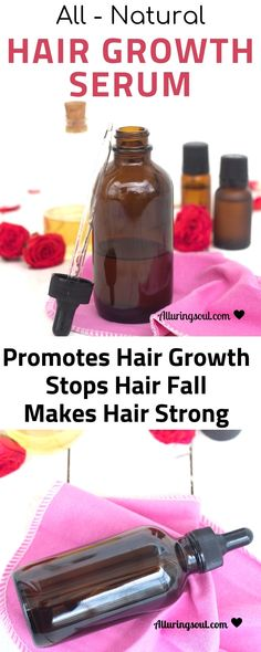 Tired of hair fall problem? Natural oils are the rescue. This all natural Hair Growth Serum helps to combat hair fall problems and promotes hair growth. Check out how this serum can help you. New Hair Growth, Natural Hair Growth, Natural Hair Styles, Diy Hair Growth Serum, Nail Growth, Hair Remedies For Growth, Hair Loss Remedies, Reduce Hair Fall, Hair Blog