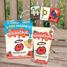 Our kids smoothies – packed full of good stuff, perfect for little hands, and now with 3 free magnets inside each pack. Grab them for a limited time only.
