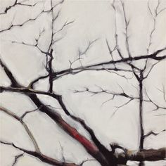 Hermelando B M. Three chapters of a tree, #3. Triptych. Oil on canvas. 46 x 46 cm