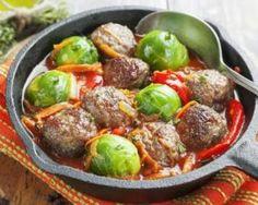 Poêlée de choux et de boulettes de viande à la tomate : http://www.fourchette-et-bikini.fr/recettes/recettes-minceur/poelee-de-choux-et-de-boulettes-de-viande-la-tomate.html