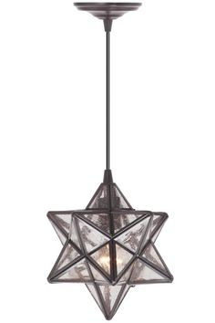 $159 w/ free shipping.  Includes hardware kit with traditional adapter.  Moravian Pendant - Pendant Lighting - Ceiling Fixtures - Lighting | HomeDecorators.com