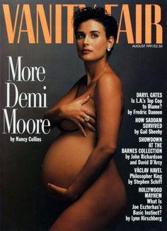 Demi Moore by Annie Leibovitz, Vanity Fair, August 1991