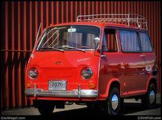Red Subaru 360 Van