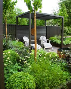 Urban Garden Design Pergola Kits Attached To House Back Gardens, Small Gardens, Outdoor Gardens, Landscape Design, Garden Design, Pergola Kits, Garden Projects, Garden Ideas, Garden Planning