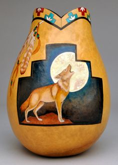 "Southwest Inspired, ""Call of the Wild"" Gourd Art by Christy Barajas"