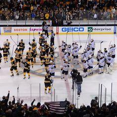 Bruins & Sabres salute city of Boston   #BostonStrong #NHLBruins