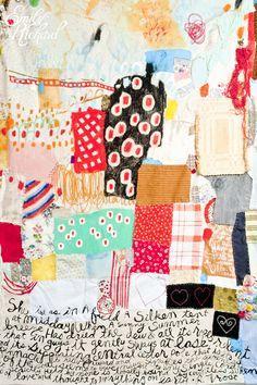 "emmyrickard:    The Silken Tent (Detail), 2010, Mixed Media on Fabric, 148"" x 98"""