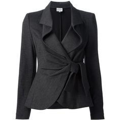 Love the style. As always want to see it in dark plum. ARMANI COLLEZIONI knotted skirt suit (810 CAD) found on Polyvore