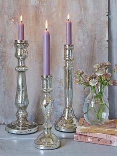 Mercury Silver Candlesticks