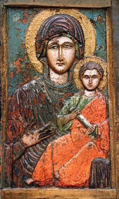 Mother of God Religious Icons, Religious Art, Verge, Christian Artwork, Russian Icons, Byzantine Art, Hail Mary, Blessed Virgin Mary, Art Icon