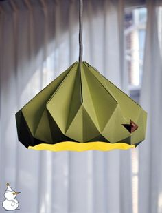 Origami Lampshade - Instructions for DIY enthusiasts