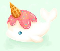little vanilla narwhal by Mechanical2127.deviantart.com on @deviantART