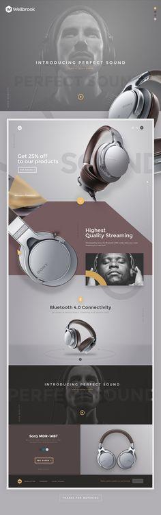Headphones on Behance