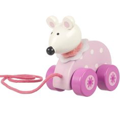 This Pink Mouse pull along is a great quality gift - perfect for girls age 2 who love running around.