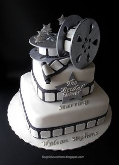 The Bridal shower:  film reel cake