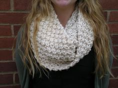 Alexis Chunky Knit Infinity Scarf by BrittKnit on Etsy, $24.00