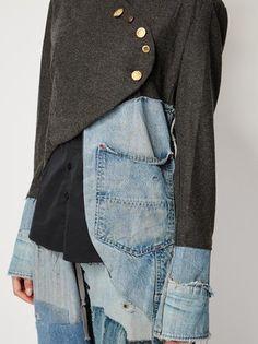 Greg Lauren куртка с панельным дизайном Texturas Tela b1ab1080cc7e
