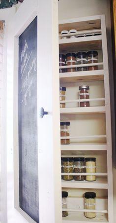 DIY wooden spice rack cabinet