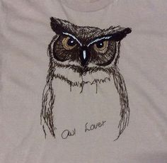 Owl Embroidery T-shirt