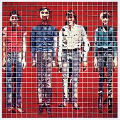 More songs about...  The front cover of the album  More Songs About Buildings and Food (Talking Heads' second album) was  conceived by the lead singer David Byrne and executed by artist Jimmy De Sana. It is a mosaic image of the band comprising 529 close-up Polaroid photographs.     This cover preceded by a few years the series of Polaroid montages made by David Hockney. In fact Hockney's series of images are better than this cover image, but the principle idea is the same.