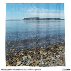 Relaxing Shoreline Photo Shower Curtain