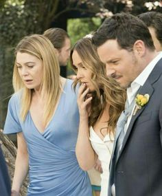 Alex and Jo have the wedding from hell. Bailey gets a sign. A surprise engagement leads to a quickie wedding. And we say farewell to April and Arizona. Greys Anatomy Alex, Grays Anatomy Tv, Greys Anatomy Finale, Camilla Luddington, Alex And Jo, Grey's Anatomy Season 14, Justin Chambers, Grey's Anatomy Tv Show, Surprise Engagement