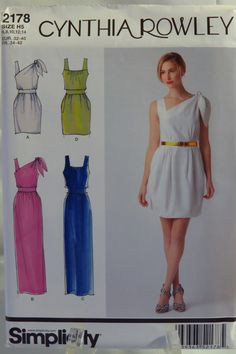 Simplicity 2178 Misses' Dresses in Two Lengths