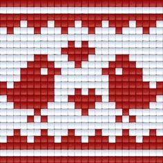 Vogeltjes   Pixel Party Cross Stitch Designs, Cross Stitch Patterns, Quilt Patterns, Fair Isle Knitting Patterns, Knitting Charts, Beaded Cross Stitch, Cross Stitch Embroidery, Chicken Cross Stitch, Fair Isle Chart