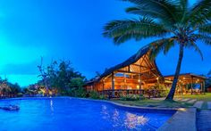 Plan a Pacific Harbour Getaway in Fiji? 3 nights at The Uprising Beach Resort will give you plenty of time to enjoy some adventure - why not try zip-lining? Or shark diving? Honeymoon Tips, Honeymoon Destinations, Bungalow, Travel To Fiji, Fiji Culture, Fly To Fiji, Visit Fiji, Fiji Beach, Romantic Places