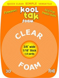*Kool Tak DOUBLE-SIDED TAPE Clear Foam Adhesive from SSS