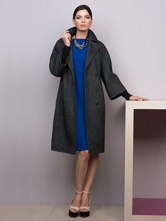 Пальто женское м. 3014350p10495 Твид цв. графит