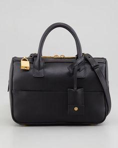 Small Rigid Crossbody Duffle Bag, Black by Saint Laurent at Neiman Marcus.