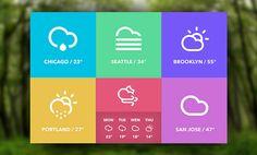 PSD Freebie: Weather widget free PSD