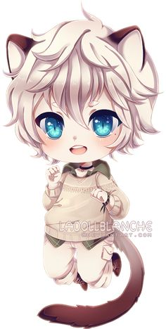 simple chibi commission for Ryuuta-kun usually i dont post simple chibis, but i like how these two came out, plus i need new example xd