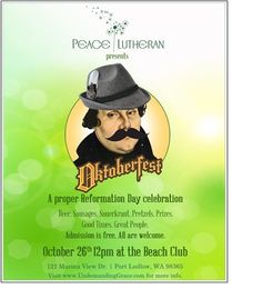 Oktoberfest in Pt Ludlow on Oct 26, 12 noon at The Beach Club. Community party, German beer, sausages, potato salad, prizes, fun, good times. All ages. Our treat. Please join us!