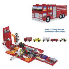 Foldout Fire Station Playset - Toys, Games, Electronics & Crafts – Educational, Imaginative & Fun
