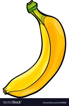 Banana fruit cartoon vector image on VectorStock Fruit Art, Fruit Food, Moana Fan Art, Fruits And Vegetables Pictures, Simple Car Drawing, Vegetable Crafts, Healthy And Unhealthy Food, Apple Picture, Disney Princess Cartoons