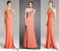 Vestidos de festa em tons de laranja