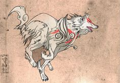 Amaterasu running, or is that Shiranui? Okami!