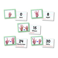 AMERICAN SIGN LANGUAGE CARDS NUMBER