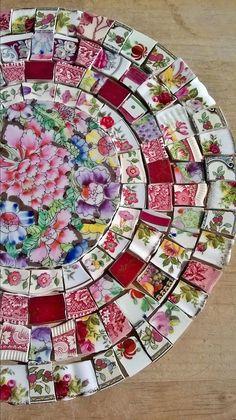 Stunning Pink Floral Mix Of Mosaic Tiles (broken hand cut china) in Crafts, Mosaic   eBay!