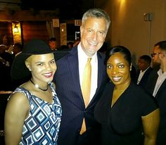 With Mayor Deblasio